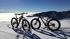 Above the clouds fatbiking (Doug Goodenough) Tags: bicycel bike cycle ride pedals spokes stache trek farley snow november 2015 nov 15 fat fatbike snowbike blue mountains washington scott christy sean drg53115p drg53115 drg531