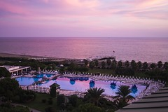 Reflective (rahmivolkan) Tags: sunset sea reflection beach pool turkey hotel sand trkiye palm antalya deniz palmiye otel gnbatm belek