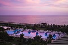 Reflective (rahmivolkan) Tags: sunset sea reflection beach pool turkey hotel sand türkiye palm antalya deniz palmiye otel günbatımı belek