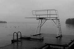 Dezember (jenshpetersen) Tags: plön sprungbrett see nebel