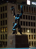 De verwoeste stad (Rotterdam, Netherlands) (Ruben Aarts) Tags: rotterdam night netherlands nl mirrorless blaak ossip zadkine 1940 statue leuvehaven