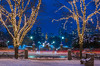George Washington Statue at Christmas (jlucierphoto) Tags: outdoor lites statue christmas snow boston holiday bluehour lovelyflickr