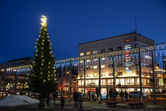 Xmas tree in Vaasa market square