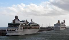 Vision of the Seas & Costa Fortuna (PhillMono) Tags: nikon dslr d7100 ship boat vessel barcelona dock harbour cruise voyage vision seas costa fortuna caribbean royal
