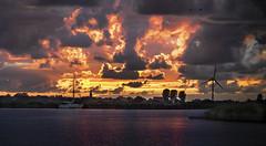 Friesland sunset (JaapZvdL) Tags: landschap weergesteldheid zonsondergangen marrekrite workum friesland avondrood