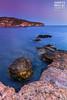 La gran Piscina (Andres Breijo http://andresbreijo.com) Tags: mar sea noche night nocturna anochecer playa beach rocas rocks island isla mazarron puertodemazarron murcia españa spain