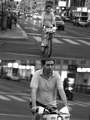 [La Mia Città][Pedala] con il bikeMi (Urca) Tags: milano italia 2016 bicicletta pedalare ciclisti ritrattostradale portrait dittico nikondigitale mirò bike bicycle biancoenero blackandwhite bn bw 907165 bikemi bikesharing