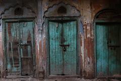 Three blue doors, Old Delhi (NovemberAlex) Tags: colour india delhi texture urban