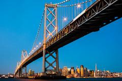 Good Morning San Francisco (Thomas Hawk) Tags: america baybridge california sf sanfrancisco usa unitedstates unitedstatesofamerica bridge sunrise fav10 fav25 fav50 fav100