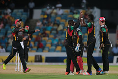 Patriots celebrate (St. Kitts & Nevis Patriots) Tags: cricket cpl bridgetown barbados brb