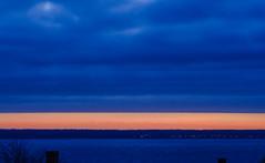 "Sunset with ""curtain"" of clouds ... :-) (frankmh) Tags: sunset sky cloud hittarp skåne sweden öresund denmark"