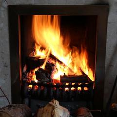 Christmas Fireplace 2016 (timothyhart) Tags: fire hearth flames smoke heat hot bright burn burning wood coal grate fireplace log orange red christmas 2016
