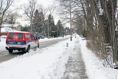 Wagon of the Modern-Day Santa (Can Pac Swire) Tags: aimg6128 van canadapost postal service toronto ontario canada canadian city urban snow winter wintry weather postes