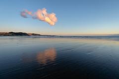 One cloud, one single cloud (ajecaldwell11) Tags: newzealand ankh hawkesbay sunrise beach waimarama reflection water waimaramabeach sky tide dawn caldwell clouds light