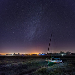 Starcraft [Explored] (Langstone Joe) Tags: boshamharbour sussex yacht milkyway astrophotography nightsky stars