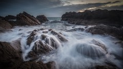 Spilled Milk (Augmented Reality Images (Getty Contributor)) Tags: canon clouds coastline cullen landscape leefilters longexposure morayshire morning rocks scotland seascape sunrise water waves