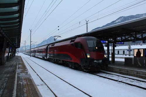 OBB 1116 met Railjet naar Feldkirch