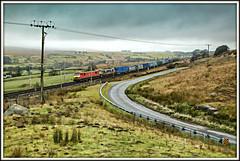 Off-road Skodas (david.hayes77) Tags: 2017 cumbria shap tebay orton class90 dbs dbschenker malcolm containers intermodal rain cloud 90024 90029 skoda