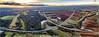 Highway 65 (Peter Daum 69) Tags: highway autobahn 65 licht light landscape natur nature scenery landschaft wolken clouds sonne sun sonnenuntergang sunset color farbe dji sky himmel drohne aerial view