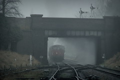 Pulling away (Duck 1966) Tags: 70013 olivercromwell gcr goods loughborough timelineevents train gloom