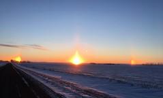 Sundog Sunrise (USFWS Mountain Prairie) Tags: fws usfws usfishandwildlifeservice wildlife conservation nature kulmwmd kulmwetlandmanagementdistrict wetlandmanagementdistrict nd northdakota sunrise sundog phantomsun mocksun parhelia parhelion
