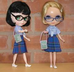 BaD:  2nd Feb 2017 - Plaid (Calendar girl 48 / grannygreen) Tags: blythedolls lizzie twiggy badfeb2017 plaid school glasses spectacles