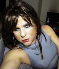 I put a spell on you.... (Irene Nyman) Tags: irenenyman dutchcrossdresser dutch crossdress tgirl evileye blueeyes selfie portrait brunette turtleneck wickedwitch enchanting spell lips