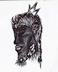 Hombre Afro (Linea Callejera.) Tags: afro diseño esfero lapicero negro blanco black line lines linea lineas medellìn comuna13 13 dp13 street calle raza humanidad human white
