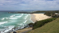 Duranbah Beach & Tweed River mouth from Point Danger on the border of Queensland and New South Wales (David McKelvey) Tags: 2017 australia duranbah beach border queensland newsouthwales iphone6plus pacific ocean sea coast sand water tweed river mouth point danger