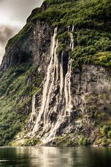 Seven Sisters (alexanderscholz) Tags: rocky rocks cliff klippe felsen rainy fresh norway geiranger norwegen waterfall seven sisters sevensisters geirangerfjord fjord rundfahrt cruise kreuzfahrt