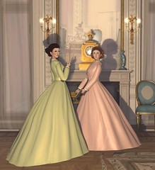 Debutantes (LisaMarie McWinnie) Tags: victorian 1860 1869 fashion plate debutante dress historical history second life sl roleplay rp mesh 60s 1860s 19th century xix