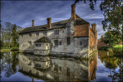 Baddesley Clinton (Darwinsgift) Tags: baddesley clinton warwickshire hdr pc pce nikkor 19mm f4 nikon d810 photomatix moat water reflections national trust stately home