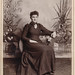 Cabinet card of a sitting young woman