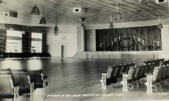 Prestatyn Holiday Camp - Ballroom (trainsandstuff) Tags: vintage postcard retro pontins prestatyn holidaycamp towerbeach