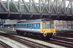 55021 (Sparegang) Tags: 55021 class121 pressedsteeldmu dmu bubblecar paddington networksoutheast nse britishrail westernregion 1990