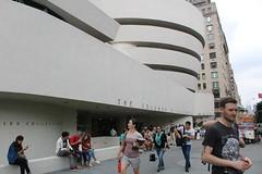 The Guggenheim (Cynthia Turner) Tags: newyork sidewalk guggenheim artmuseum hotdogstand