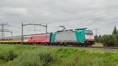 Angel trains/SNCB lok 2809 - Traxx E186 201 met reizigerstrein van NS Internationaal - Wieldrechtse Zeedijk - Dordrecht (F. Berkelaar) Tags: nederland dordrecht nl bombardier zuidholland nsi traxx nsinternationaal br186 angeltrains wieldrechtsezeedijk ratio169 sncb2809 bombardiertraxxf140ms2 traxxe186201