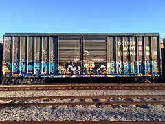 FOROE STRIKE SCAM (UTap0ut) Tags: california ca art cali train bench graffiti paint rail cal strike graff freight scam foroe utapout