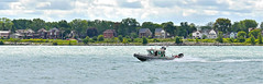 Patrol Boat (dwgibb) Tags: bridge lighthouse canada boat michigan detroit casino greatlakes windsor ceasars detroitriver riverwalk freighter rencen ambassadorbridge gmbuilding millikenstatepark