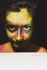 6.envy (Despina Titoni) Tags: portrait woman selfportrait black color green girl female dark artist photographer creative young makeup 7 number greece seven conceptual envy six jealousy sins deadly nikond3100