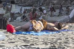 Beach Bums (mathewfern) Tags: love beach boyfriend sand girlfriend bums catalunya sunbathing llafranc palafrugell
