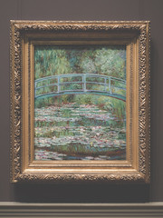 Claude Monet, Bridge over a Pond of Water Lilies 1899, Metropolitan Museum of Art, New York, New York State, United States of America. (digitalreflections) Tags: city newyorkcity travel usa newyork paris architecture america painting french photography downtown artist waterlily unitedstates artgallery unitedstatesofamerica citylife franklloydwright american painter impressionism northamerica newyorkstate manhatten giverny oldmaster metropolitanmuseumofart claudemonet oiloncanvas 1899 travelphotography traveldestinations famousplace artscultureandentertainment frenchculture bridgeoverapondofwaterlillies newyorkstatenewyork
