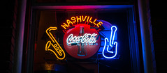 Nashville Coca-Cola (Tom Frundle) Tags: street color window colors beautiful sign night store cool downtown neon nashville tennessee coke neonsign cocacola nashvilletn nashvegas musiccity downtownnashville fujix