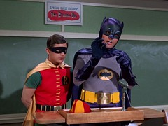 Catwoman Goes to College 01 - Batman and Robin (Tom Simpson) Tags: robin television vintage batman 1960s catwoman adamwest burtward vintagetelevision