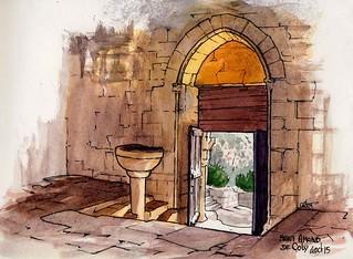 St Amand de Coly entrée église
