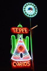 S3 P 1330 Teepee Curios Neon Tucumcari NM (californiatochicago) Tags: neon teepeecurios newmexico route66 route66newmexico neonsigns oldsigns roadsideattractions tucumcarinewmexico route66tucumcari tucumcari
