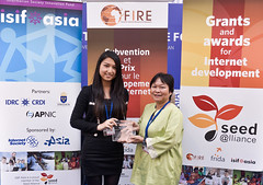 ISIF ASIA and FRIDA AWARDS 2012 .In the category of Code for the common good, the winner is    Empowering Non-Profit Organizations and Micro-enterprises with ECHO (Malaysia), represented by Ms. Sheau