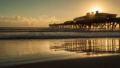 The Sunglow pier (IV). (Samuel Santiago) Tags: beach digital sunrise landscape pier florida tripod daytonabeach fineartphotography canonef1740mmf4l manfrotto190xprob canon5dmkii samuelsantiago sunglowfishingpier 496rc2ballhead sammysantiago