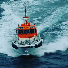 A Norwegian Pilot Boat on its way... (Gunnar Eide) Tags: square maritime squareformat clarendon odfjell iphoneography instagramapp uploaded:by=instagram