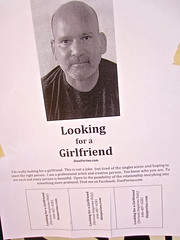 Looking for a Girlfriend, New York, NY (Robby Virus) Tags: nyc newyorkcity ny newyork love dan poster flyer girlfriend looking manhattan single bigapple perino